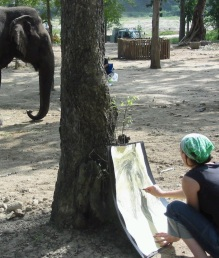 me & elephant edited
