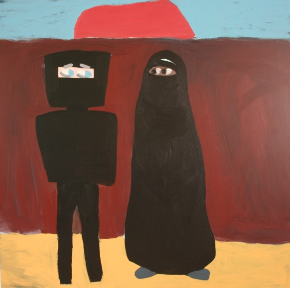 Ned's Burqa_2007_1200x1200_Acryliconboard